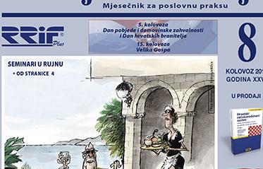 Časopis RRiF-a za mjesec kolovoz 2016.