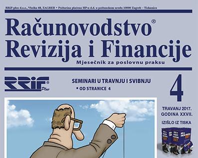 Časopis RRiF za mjesec travanj 2017.