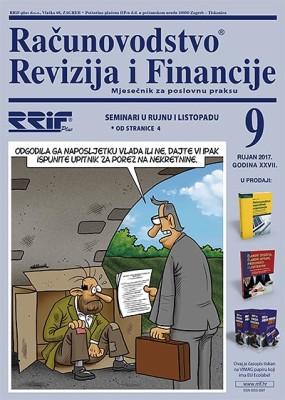 Časopis RRiF za mjesec rujan 2017.