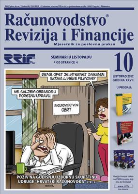 Časopis RRiF za mjesec listopad 2017.